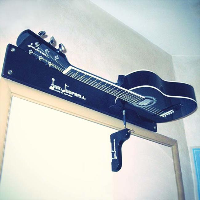 Guitar chime doorbell.