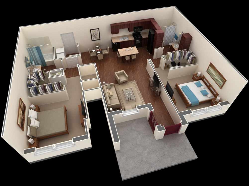 12 Shared Apartment Plan