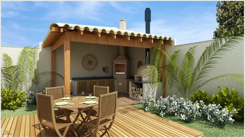 10 amazing outdoor barbecue kitchen designs architecture - Pavimento exterior barato ...