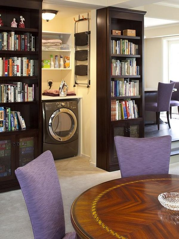 13 Traditional Living Room With Hidden Washroom