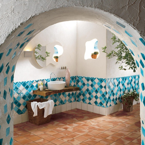 This Mediterranean Tile Design, Very Typical Of Countries Like Italy Or  Greece, Is Perfect For A Beach Or Country House.
