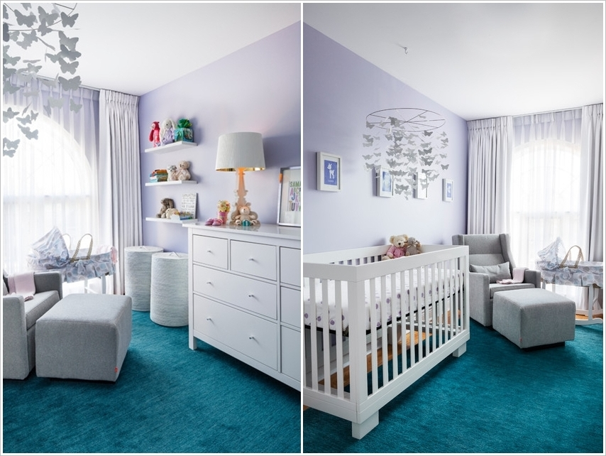 15 small baby nursery designs that are worth stealing for Chambre fille turquoise