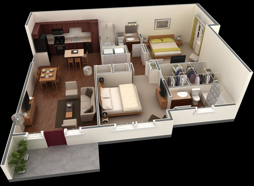 fantastic 2 room flat floor plan. 14 Springs Apartment Layout 50 Two  2 Bedroom House Plans Architecture Design