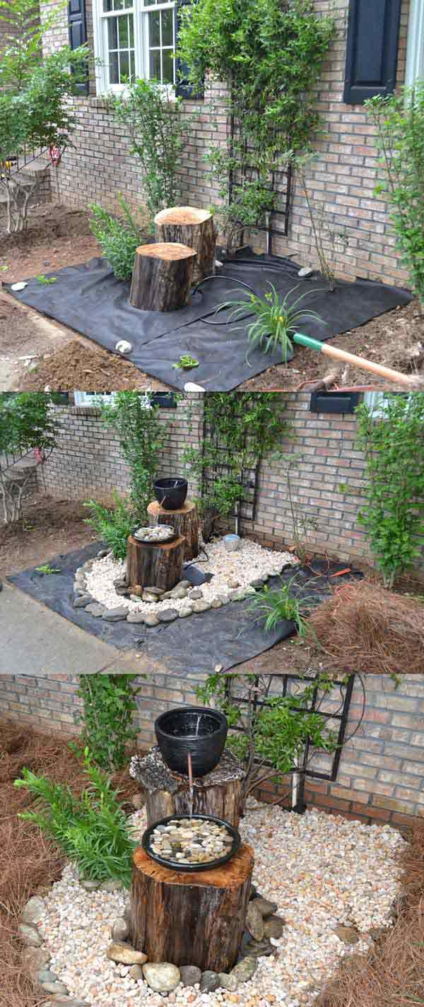 15-DIY-Log-Fountain