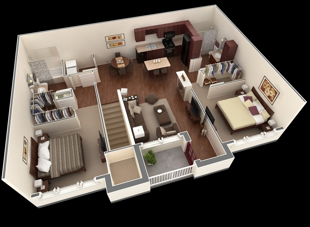 Bon 15 Springs Apartment Two Bedroom Plan