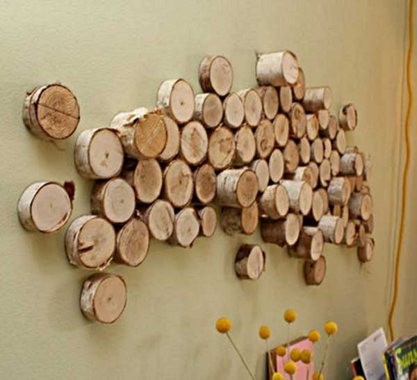 16-DIY-Log-Wall-Art