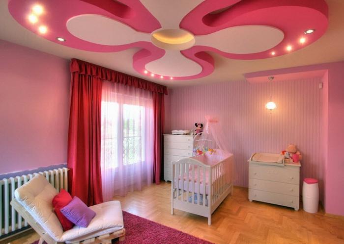 16-pink-color-ceiling-design