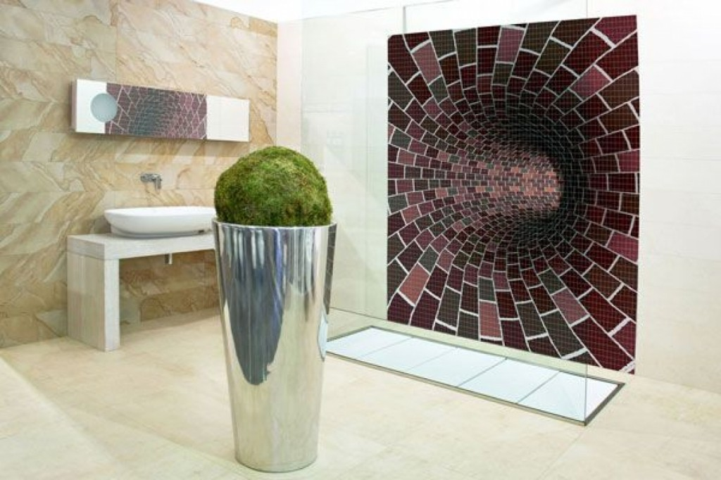 It Looks Like Your Bathroom Has A Portal In The Wall Oh No S Just Awesome Tile Design