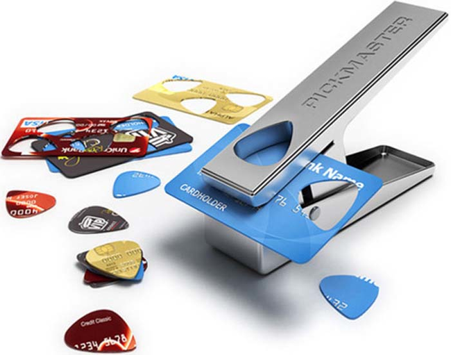 Make guitar picks from your old credit cards.