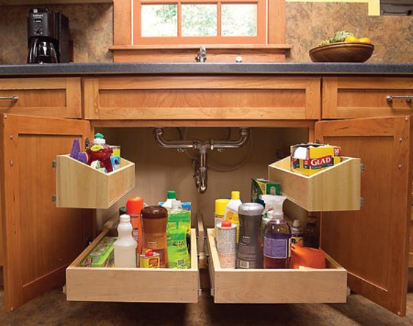 2 Kitchen Sink Storage Trays