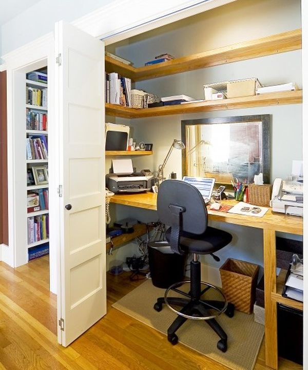 Home Office In A Closet. 21