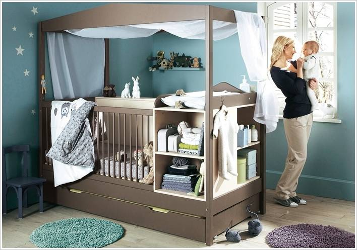 1 A Crib With Built In Storage 2 Image Via Baby Nursery Themes