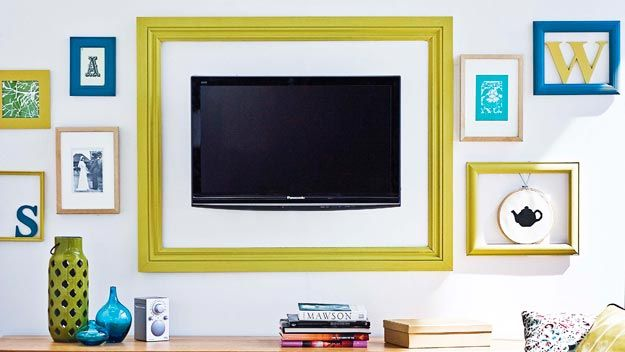 Your Flat Screen Tv Can Also Be An Artwork Forget The Other Framed And Simply Frame Flatscreen It S Maybe A Little Bit Quirky But