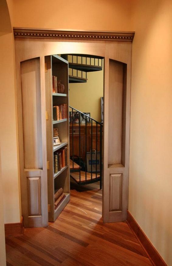 Secret bathroom pictures - 31 Beautiful Hidden Rooms And Secret Passages