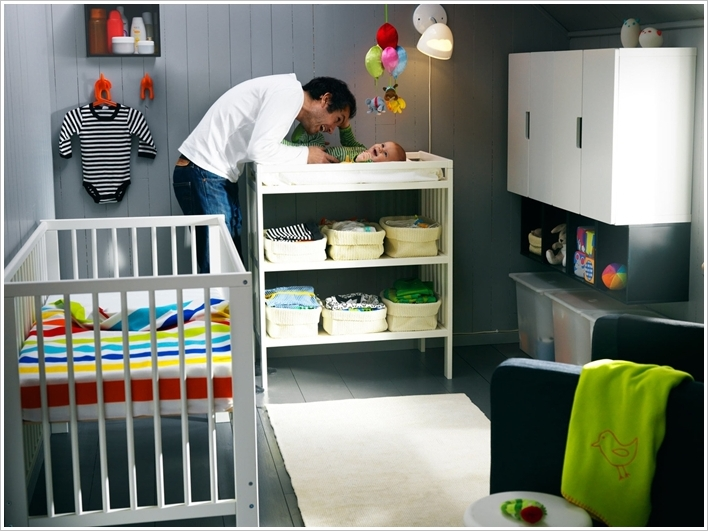 2 A Changing Table With Storage Underneath