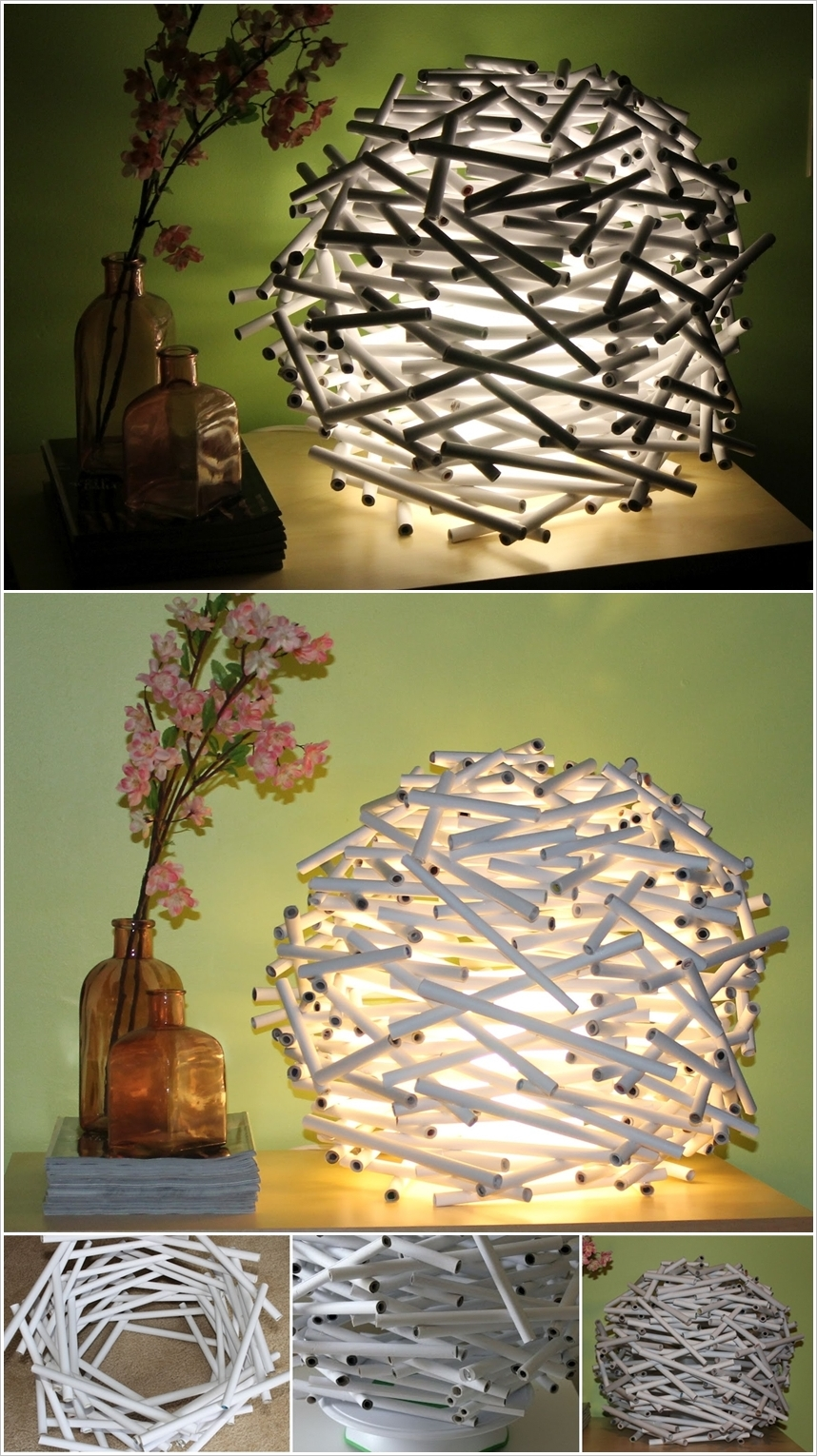 20 amazing diy paper lanterns and lamps architecture design 3 arubaitofo Gallery