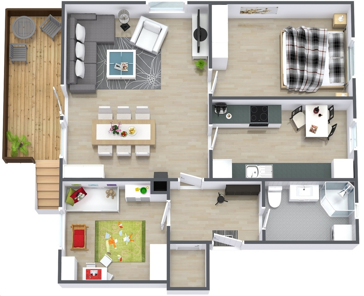 "Simple Bedroom Blueprint 50 two ""2"" bedroom apartment/house plans 