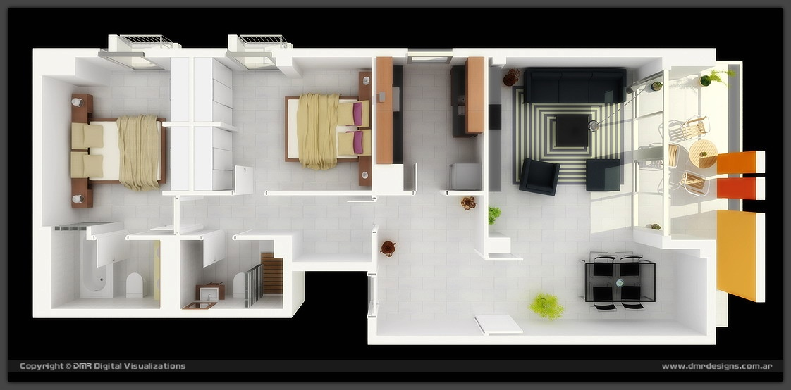 33 Argentina Two Bedroom. 50 Two  2  Bedroom Apartment House Plans   Architecture   Design