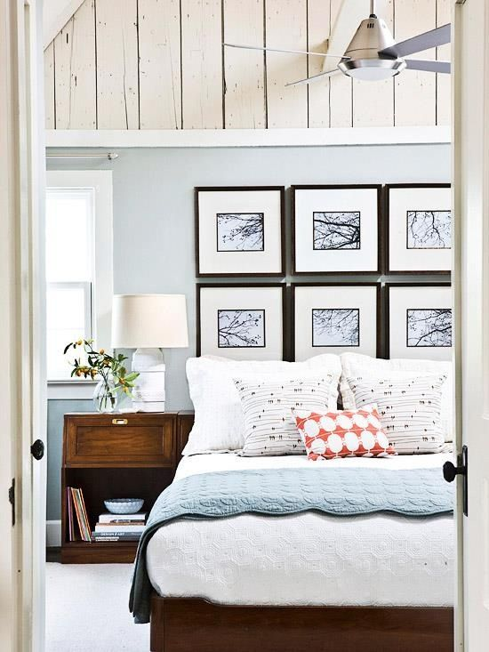 This is simple and cheap idea! You can use picture frames as a headboard for your bed. Choose a simple ones and put some nice artsy photographs inside \u2013 it ... & 16 Awesome Headboard Ideas You Can Do By Yourself | Architecture ...