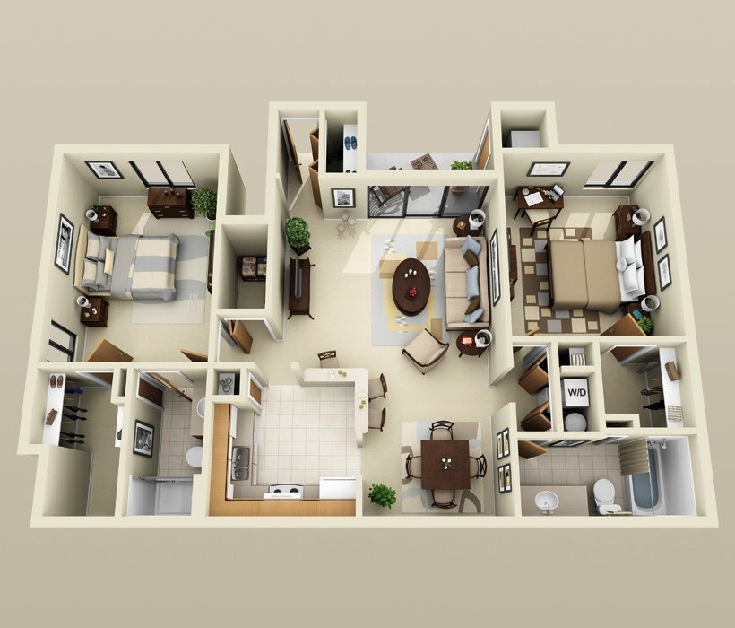 36 paragon apartment two bedroom plan - Large Living Room House Plans