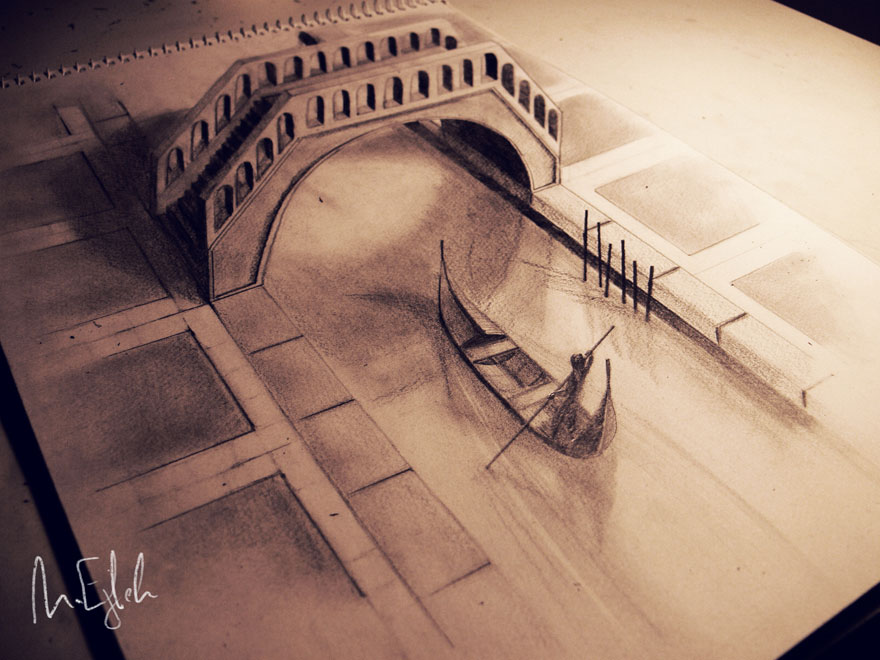 Of The Best D Pencil Drawings Architecture Design - 29 incredible examples 3d pencil drawings