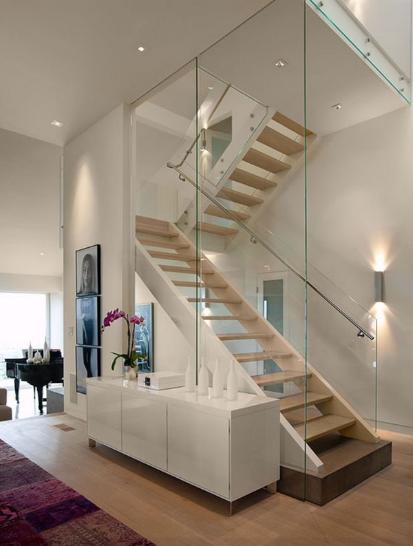 20 glass staircase wall designs with a graceful impact on - Interior glass wall designs for houses ...