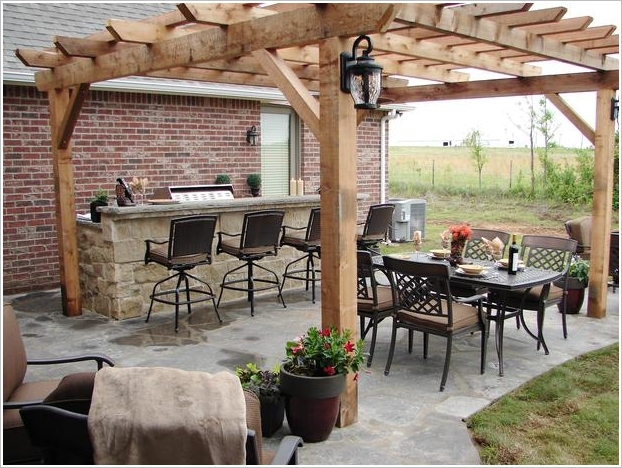 10 Amazing Outdoor Barbecue Kitchen Designs | Architecture ... on Patio Kitchen id=15789