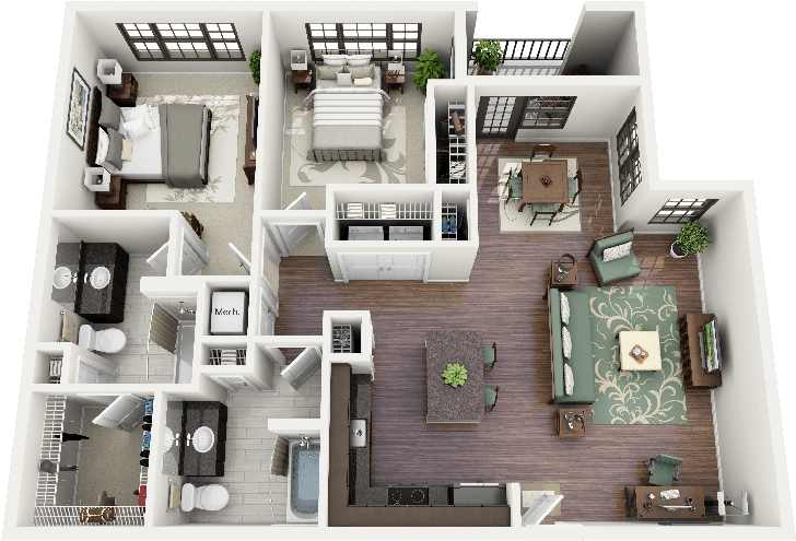 Delightful 43 Crescent Ninth Street Apartment Plan