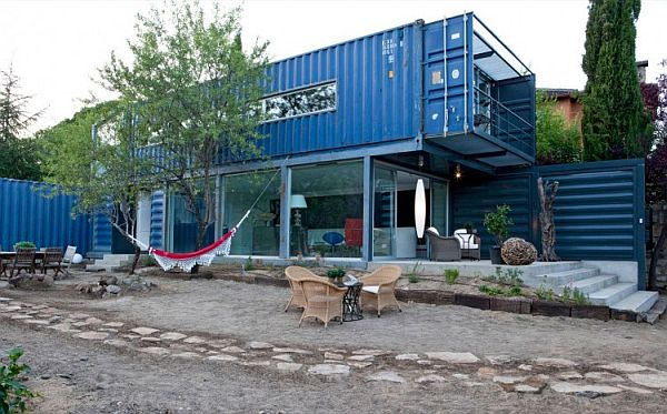 45 shipping container house in el tiemblo - Tree House Plans Metal Crate