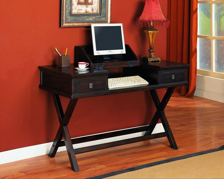 If You Donu0027t Have Much Space In Your Apartment, Then You Have To Find A  Smaller Desk Like This One. Itu0027s Simple And Yet Perfect U2013 It Has Place For  Your ...