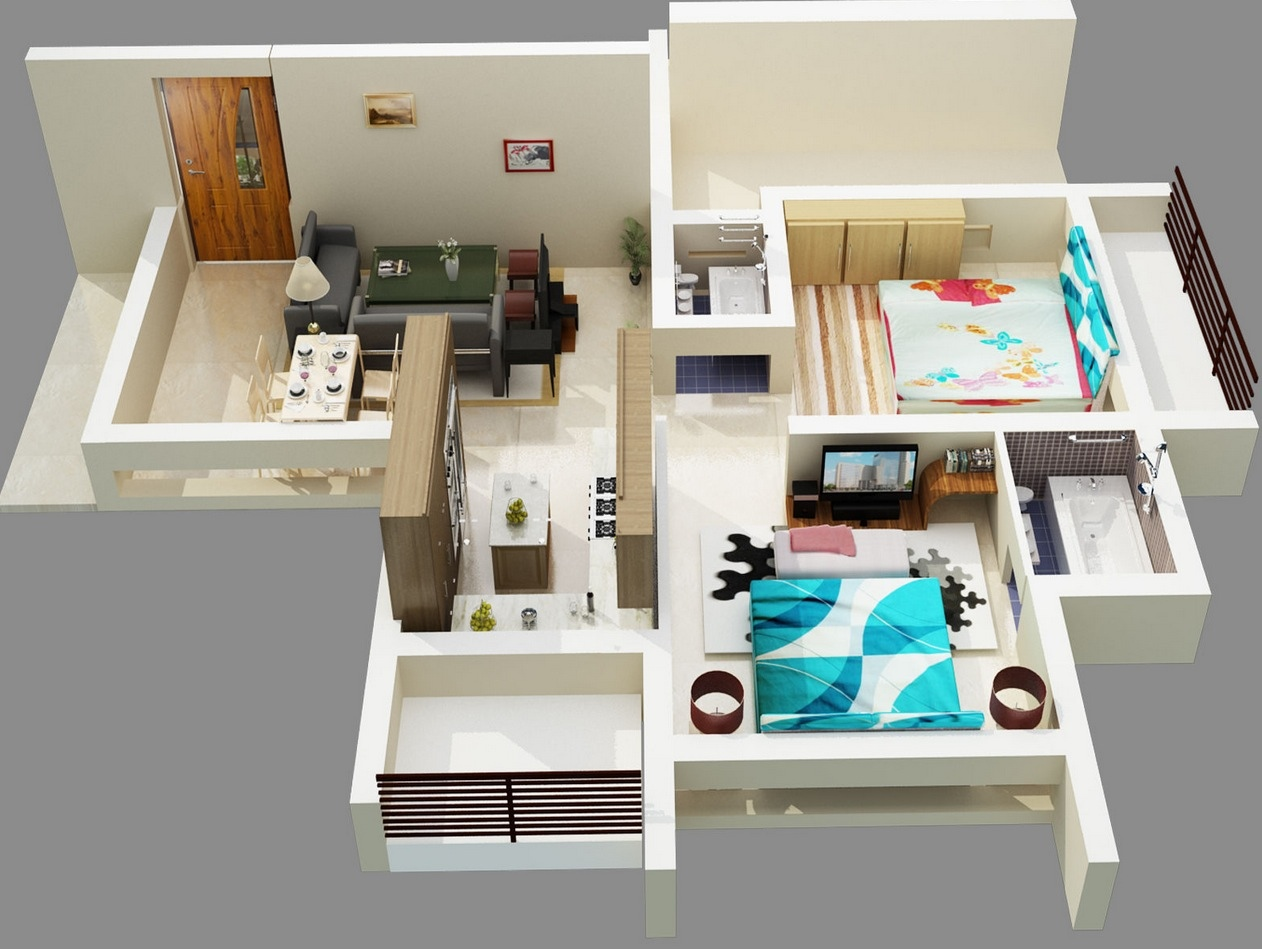 48 Bold Two Bedroom Apartment Design