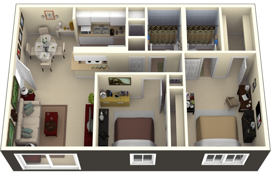 50-two-bedroom-apartment-plans