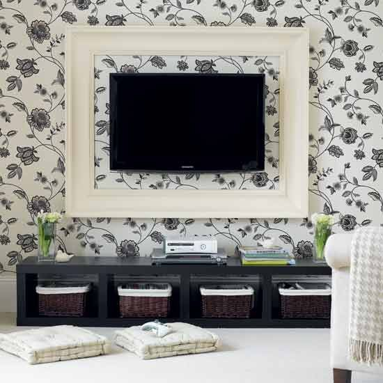 Perfect 9 Awesome DIY Frames for Your Flatscreen TV | Architecture & Design TG74