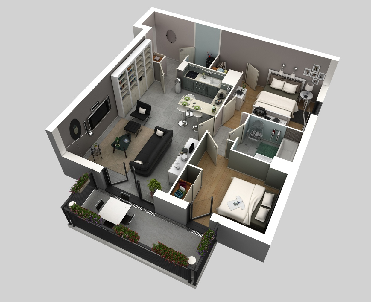 50 two 2 bedroom apartment house plans architecture for M k bedroom designs