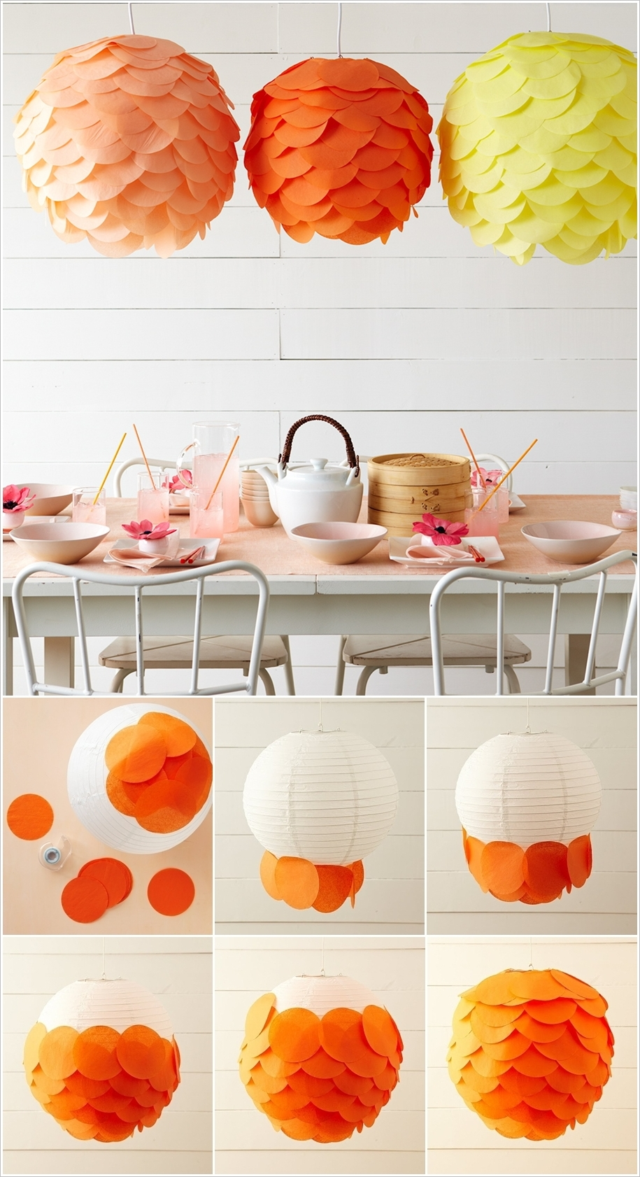 20 amazing diy paper lanterns and lamps architecture for Paper decorations diy