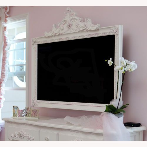 9 awesome diy frames for your flatscreen tv architecture. Black Bedroom Furniture Sets. Home Design Ideas