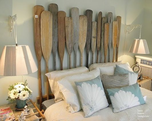 Isnt This The Coolest Idea You Have Ever Seen Will Just Need Enough Amount Of Paddles And Can Make Amazing Headboard For Your Bed
