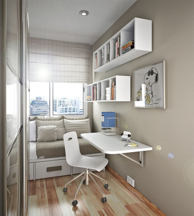 11 Awesome Home Office Ideas for Small Apartments | Architecture ...