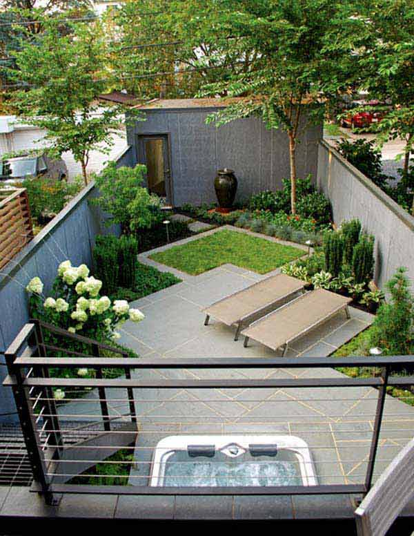 23 Small Backyard Ideas How to Make Them Look Spacious and ... on Small Landscape Garden Design  id=21965
