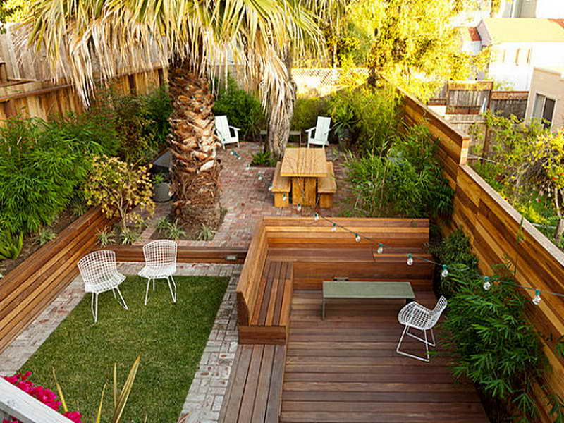 23 Small Backyard Ideas How to Make Them Look Spacious and ... on Small Landscape Garden Design  id=76778