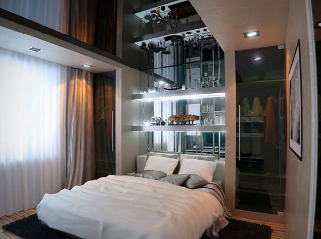 18 small bedroom decorating ideas architecture design 13296 | amazing how mirrors are used in this design a fantastic way to create depth in a small space