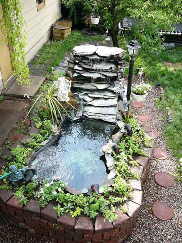 35 Impressive Backyard Ponds and Water Gardens ... on Backyard Pond Landscaping Ideas id=83671