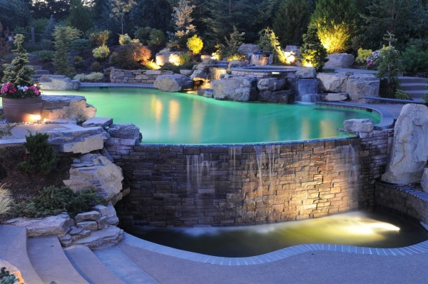 35 impressive backyard ponds and water gardens for Water garden pools