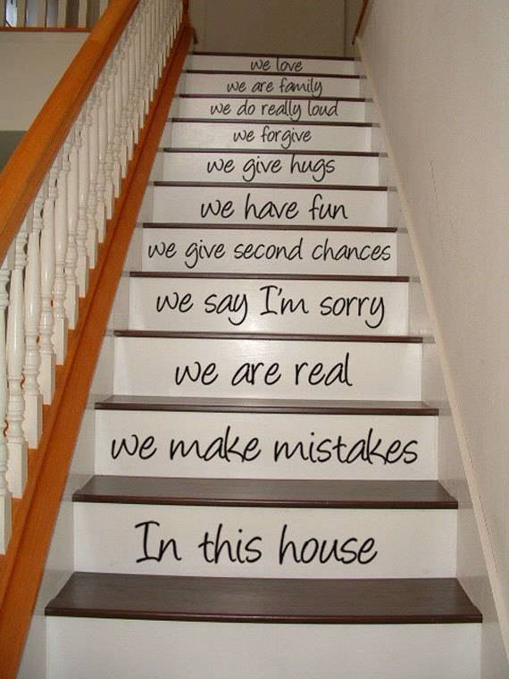 Home Stairs Decoration 7
