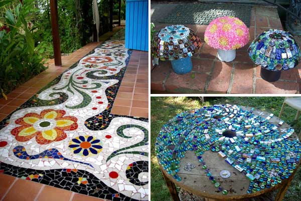 28 stunning mosaic projects for your garden architecture - Mosaicos para suelos ...