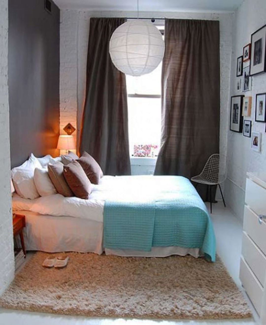 This is one of the best examples of making the most of a small bedroom  The  excellent arrangement of the furniture and the light color make the room  seem. 18 Small Bedroom Decorating Ideas   Architecture   Design