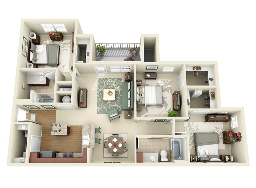 21 Unique 3 Bedroom Floor Plan With Dimensions raleigh kitchen cabinets living room list