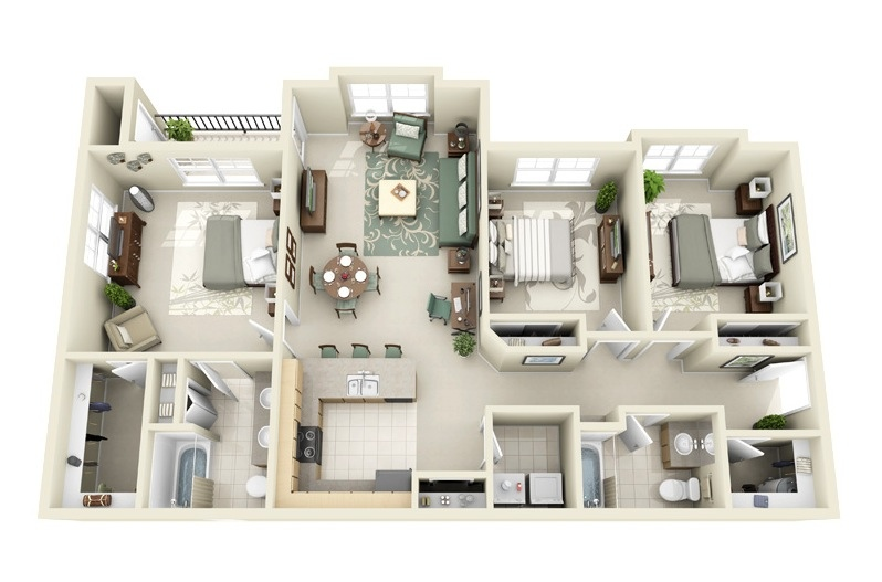 24 3 Bedroom House Layouts