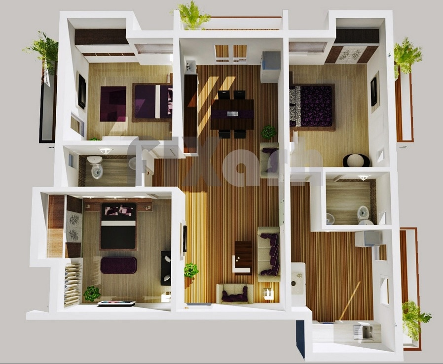 25 3 Bedroom Home Floor Plans