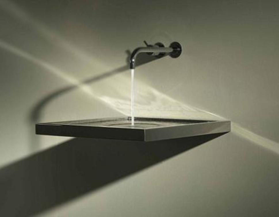 Wood Floating Bathroom Sink